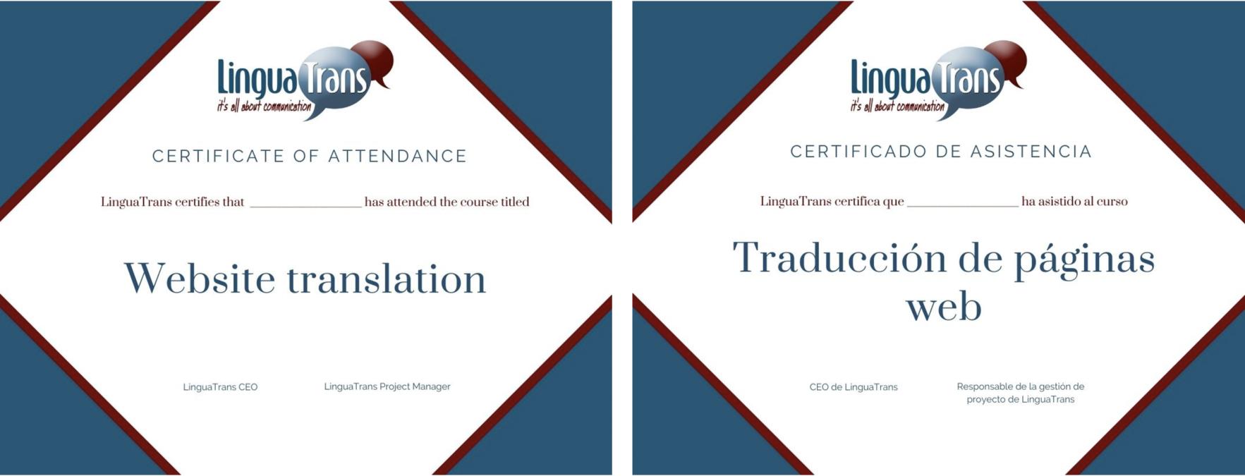 Traducción de diplomas